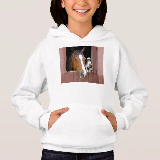Katt och häst - hästranch - hästälskare t shirt