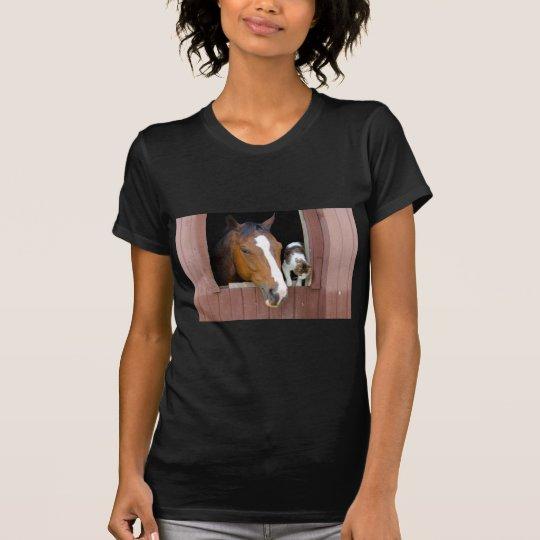 Katt och häst - hästranch - hästälskare tee