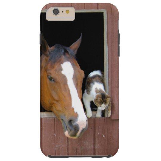 Katt och häst - hästranch - hästälskare tough iPhone 6 plus fodral