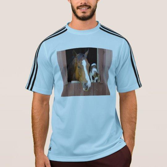 Katt och häst - hästranch - hästälskare tröja