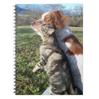 Katt och hund anteckningsböcker