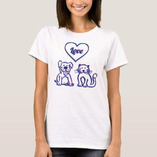 Katt och hund t shirts