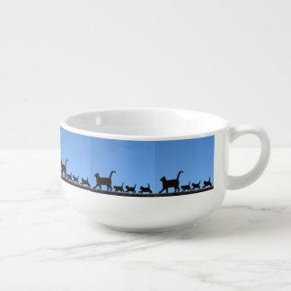 Katt och kattungar kopp för soppa