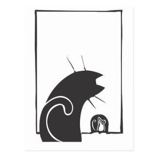 Katt och mus vykort