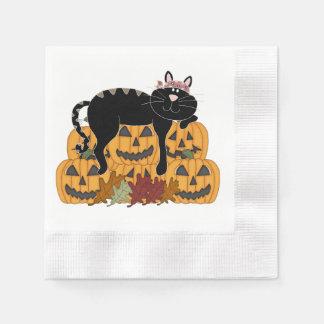 Katt och pumpor pappersservett