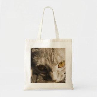 Katt ögon tygkasse