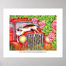 """Katt på det A hoade biltak"""" vid Jamie Wogan Edward Affisch"""
