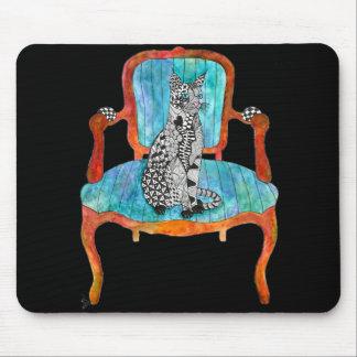 Katt på en stol Mousepad Musmatta