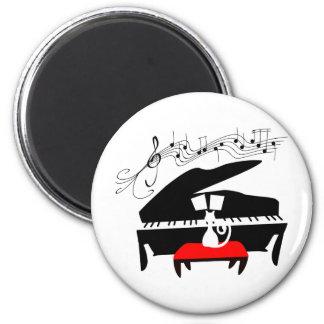 Katt & piano magnet