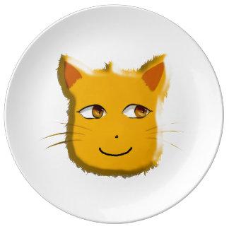 Katt Porslinstallrik