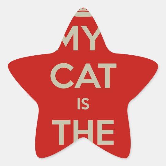 Katt Qoute Stjärnformat Klistermärke