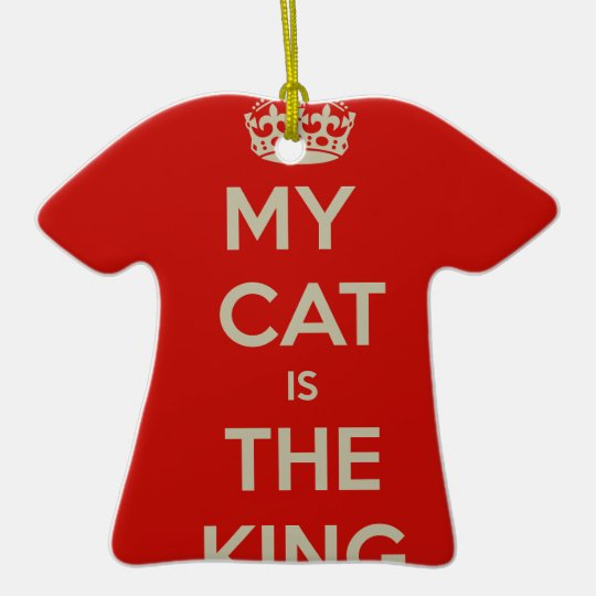 Katt Qoute T-Shirt Formad Julgransprydnad I Keramik