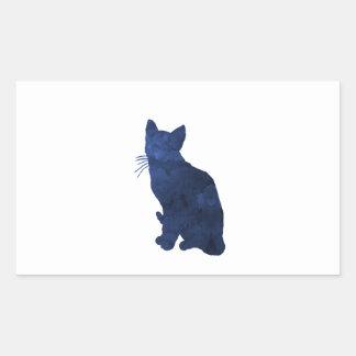 Katt Rektangulärt Klistermärke