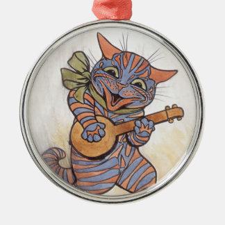 Katt som är galen med konst för banjoLouis Wain Julgransprydnad Metall
