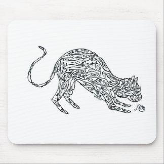Katt som göras av möss musmatta