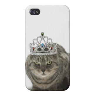 Katt som ha på sig en tiara iPhone 4 cases