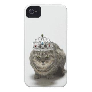 Katt som ha på sig en tiara iPhone 4 skal