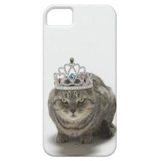 Katt som ha på sig en tiara iPhone 5 Case-Mate skal