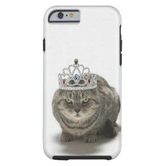 Katt som ha på sig en tiara tough iPhone 6 case