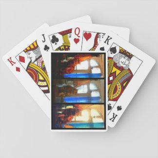 Katt som leker kortStudel Collage Spel Kort