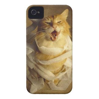 Katt som slås in i medicinskt flor iPhone 4 Case-Mate skydd
