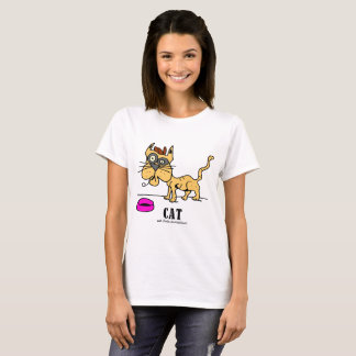 Katt vid den Lorenzo Women't T-tröja Tee