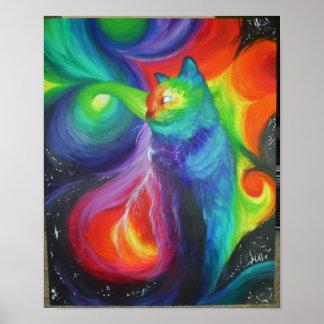 Kattabstrakt Poster