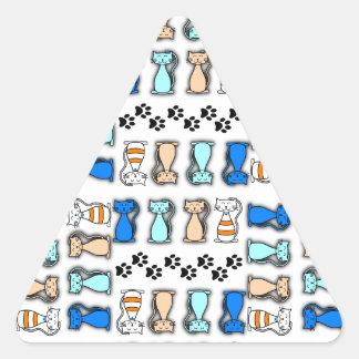 Kattälskare jamar triangelformat klistermärke