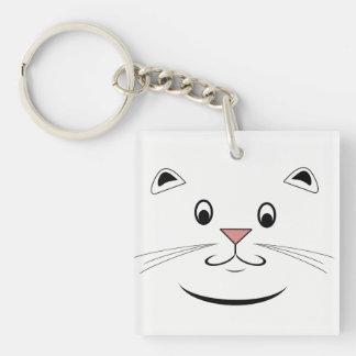 Kattälskaregåvor Fyrkantigt Dubbelsidigt Nyckelring I Akryl