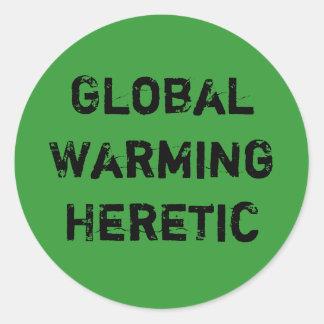 Kättare för global värme runt klistermärke