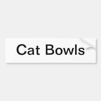 Katten bowlar tecknet bildekal