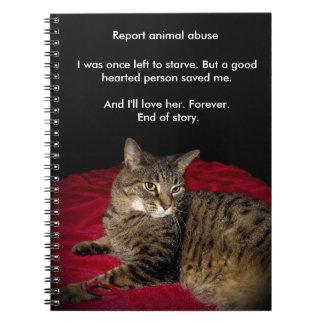 Katten för huvudväg 655 anteckningsbok med spiral