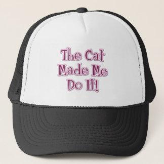 Katten gjorde mig att göra det! keps