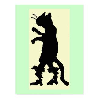 Katten ha på sig kängorna vykort