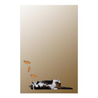 Katten och fjärilen brevpapper