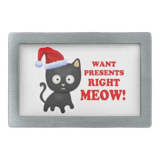 Katten önskar julklappar som höger jamar