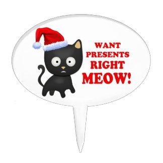 Katten önskar julklappar som höger jamar cake picks