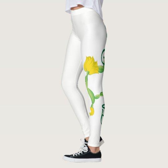 Katten poserar damasker (blomman poserar leggings