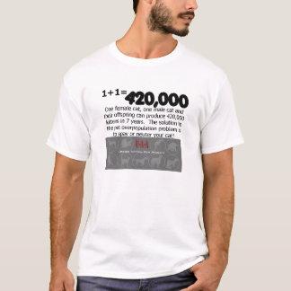 katten spay den könlösa t-skjortan t shirts