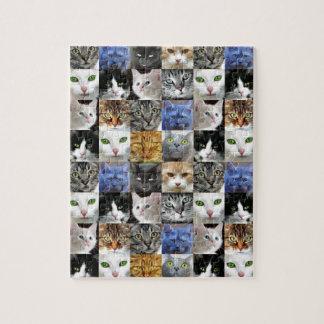 Katten vänder mot Collagepussel Pussel