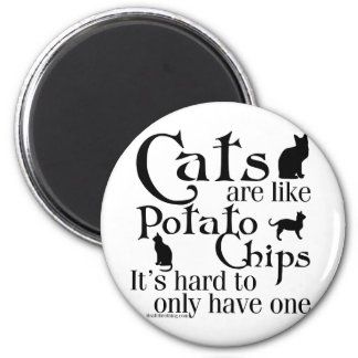 Katter är den lika potatisen gå i flisor… kylskåpsnagnet