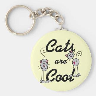 Katter är kalla Tshirts och gåvor Nyckel Ring
