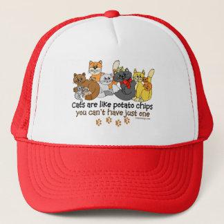 Katter är lika potatischiper truckerkeps