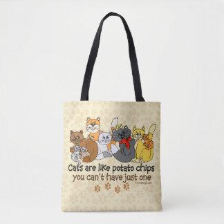 Katter är lika potatischiper tygkasse