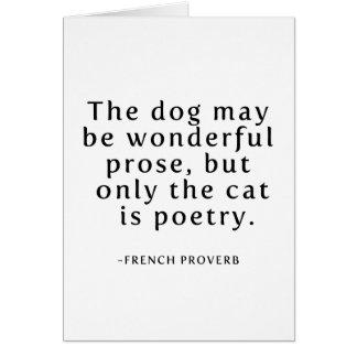Katter är poesi hälsningskort