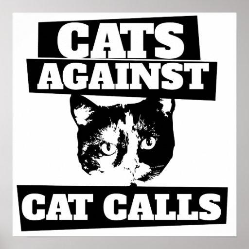 Katter mot kattappeller affischer