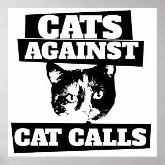 Katter mot kattappeller poster