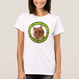 Katter mot snitt tee shirt