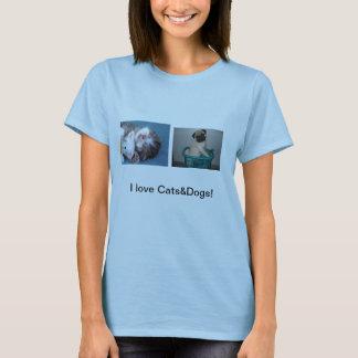 Katter och hundar t shirts