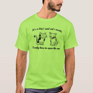 Katter och hundar tee shirt